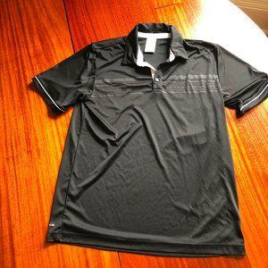 Adidas Polo Black White Logo Trim Man